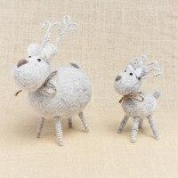 Christmas Tree Ornaments Handmade Deer Family Of Three Wool DIY Crafts Ornaments Factory Wholesale