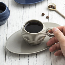 120 ml Matte Espresso Coffee Cups and Saucers Ceramic Concentrated Italian American Style Coffee Cups