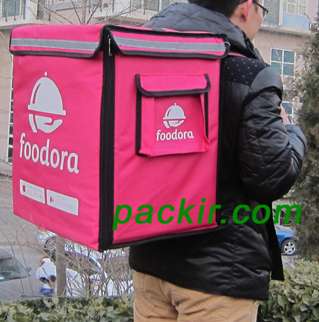Pk 65d Heat Insulation Pizza Delivery Thermal Backpack Pan Carrier Bag
