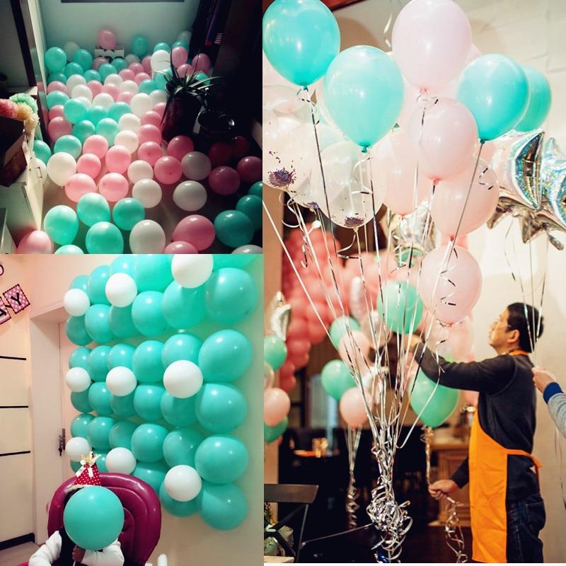 200 pcs Tiffany Blue Balloons 10 inch 2.3 g wedding ...