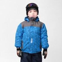 Moomin garçons manteau d'hiver 2015 nouveau Polyester Active À Capuchon Enfants Hiver outwear Géométrique Tissé Bleu abrigos livraison gratuite