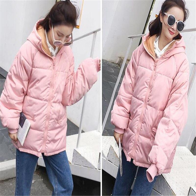 2019 High Quality Women Winter Jacket Fashion Girls Hooded Bread Parkas Female Casual Oversized Warm Wadded Coat Outwear CM021