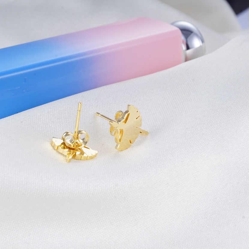 Yunkingdom élégant mode 5 Styles Angle ailes en acier inoxydable collier ensemble boucles d'oreilles pour les femmes nouveaux ensembles de bijoux turcs