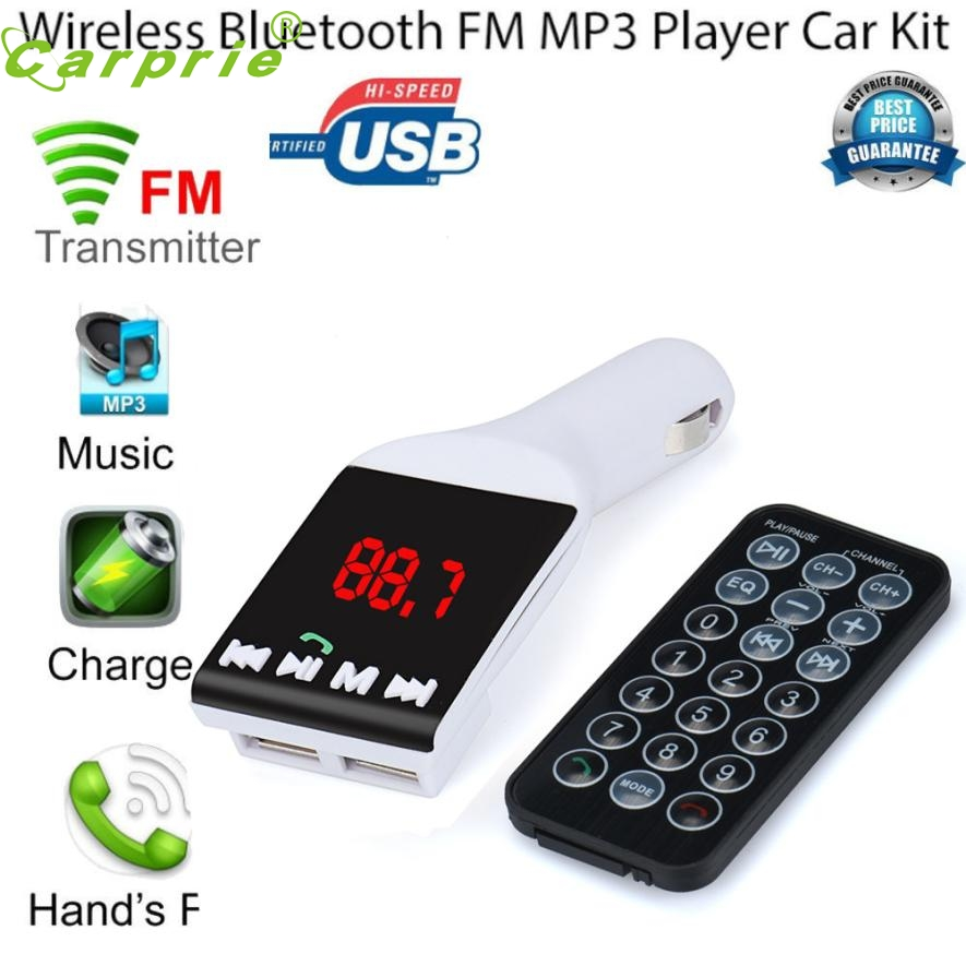 New Arrival Car-styling Bluetooth Wireless FM Transmitter MP3 Player Handsfree Car Kit USB TF SD Remote or17 usb