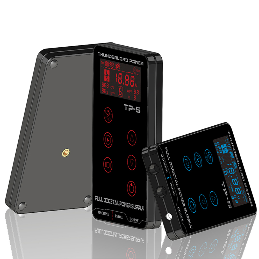 Hot Sale High Quality Tattoo Power Supply HP-2 HURRICAN UPGRADE Touch Screen TP-5 Intelligent Digital LCD Makeup Dual Supply tp 5 touch screen professional tattoo power supply hp 2 hurrican upgrade power supply digital lcd display tattoo power supply