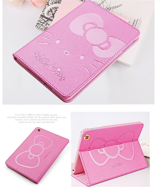 Cute Hello Kitty Stand Magnetic Smart Tablet Case Cover For Apple iPad air 1 iPad 5