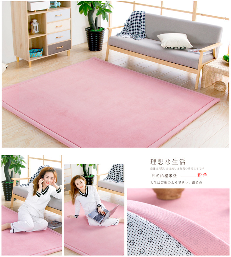 Baby Play Mat Coral Velvet Antiskid Design Crawling Mat  Baby Carpet Mat for Children Game Pad Super Soft Comfortable Playmat  (19)