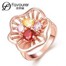 Anillos de color oro blanco/rosa para mujer anillos de fiesta de boda