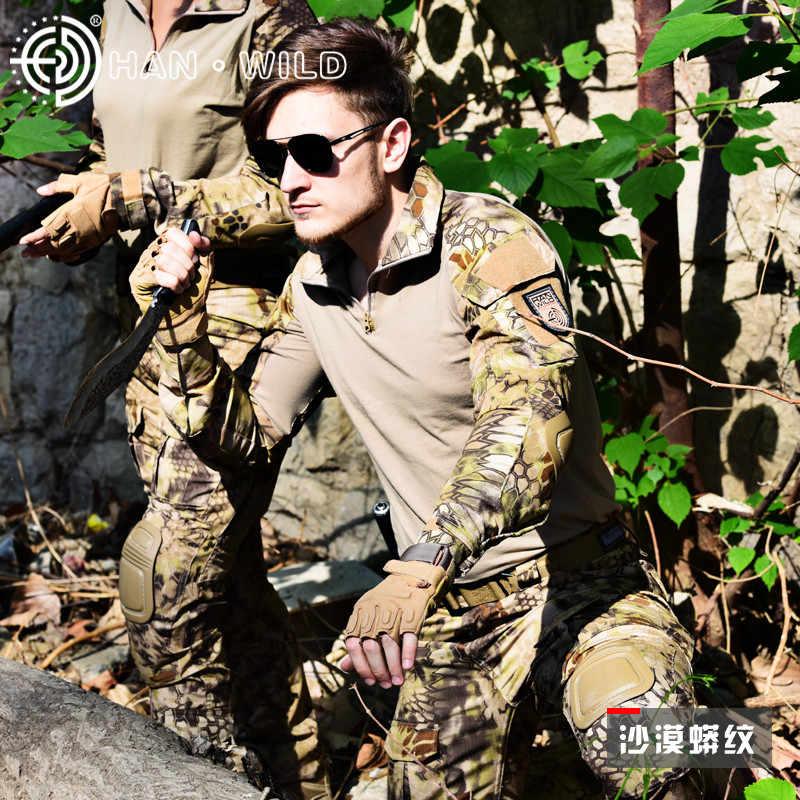 Камуфляжный рюкзак униформа одежда армейская рубашка + брюки карго наколенники охотничьи для игры в страйкболл, войнушки униформа