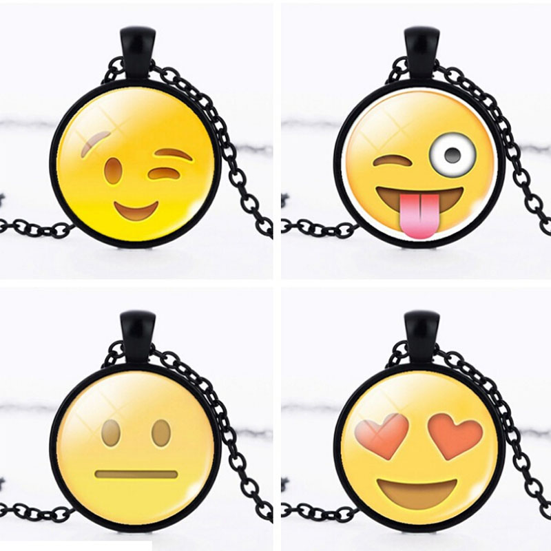 Jewelry Gift Chain For Women Creative Choker Glass Cabochon Pendant Necklace