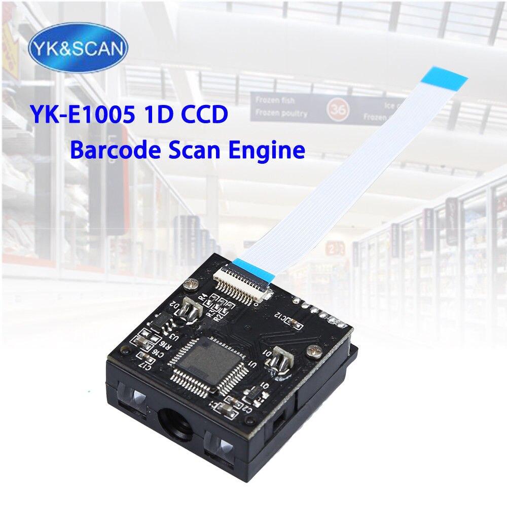 YK и сканирование YK-E1005 1D Сканер модуль CCD Сенсор USB/TTL-232 4mil сканера штриховых кодов изображения 1D встроенный сканирования для OEM DIY сканер
