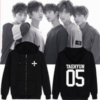 KPOP TXT Combination Debut Birthday With The Zipper Jacket Men And Women Cardigan Jacket Dropshipping