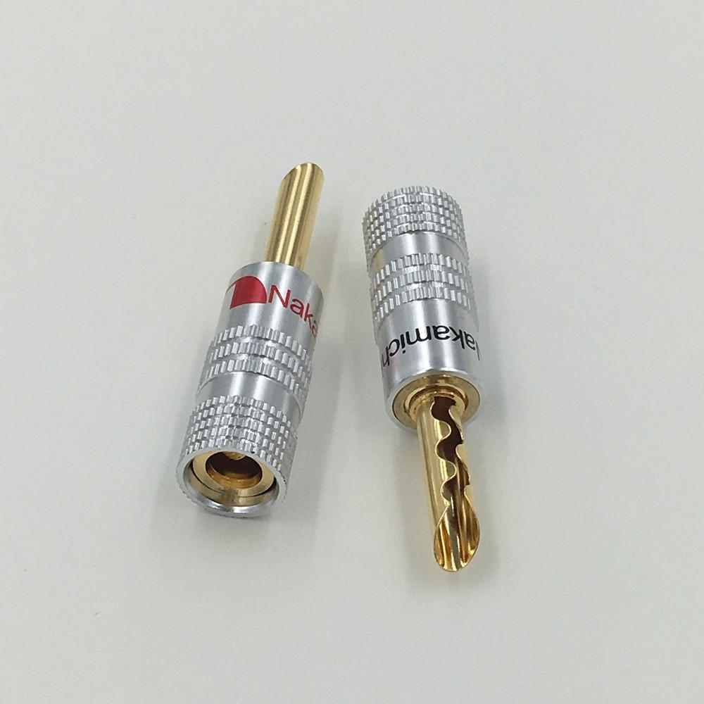 8Pcs 24K Gold Plated Audio Nakamichi BFA Silent Wire Tube 4MM Banana ...