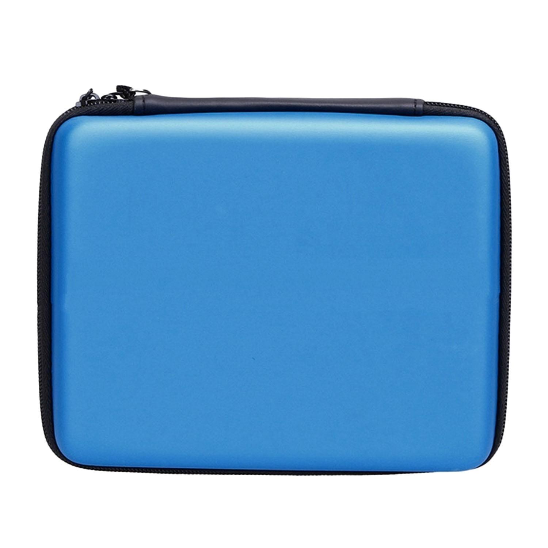 Portable Hard Shell Anti-shock Pelindung Penyimpanan Travel Hand Bag Case Holder dengan 8 Slot Kartu Permainan Carrying Strap untuk Nintendo 2DS Konsol Biru-Intl