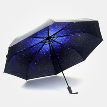 Windproof Anti-UV Black Women Umbrellas High Quality Parasols and Sun Umbrella Durability Cloth Star Rain Umbrella 35