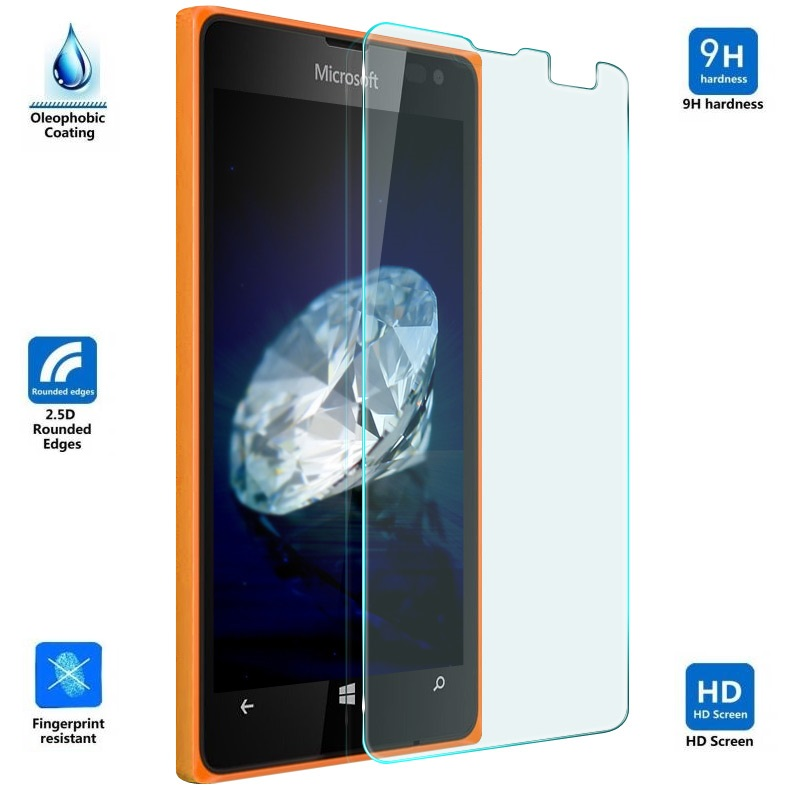 CAIFENG Tempered Glass Film Screen Protector 100 PCS for Nokia 6 0.26mm 9H Surface Hardness Explosion-Proof Non-Full Screen Tempered Glass Screen Film Anti-Scratch