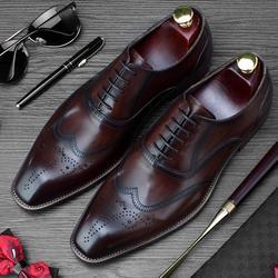 Роскошные брендовые Мужские модельные туфли из натуральной кожи ручной работы, свадебные туфли-оксфорды с квадратным носком, вечерние