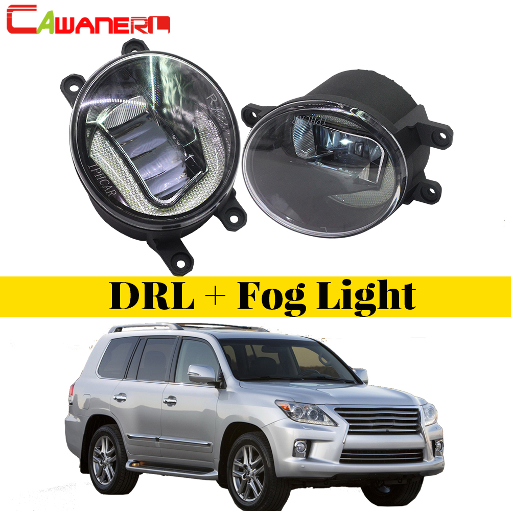 Cawanerl Car Accessories LED Bulb Front Fog Light Daytime Running Lamp DRL White 12V For Lexus LX570 2008 2009 2010 2011 free shipping 2pc lot car led lamp daytime running light bulb for 2010 cadillac escalade