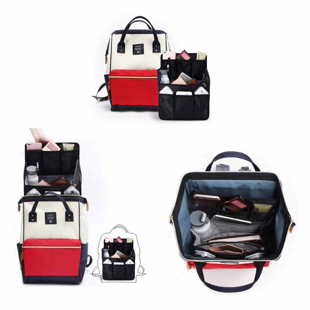 Backpack Insert Bags Inner Storage Bag Large Capacity Travel Organizer For Diaper Shoulders Sundries Finishing Handbag Organizer