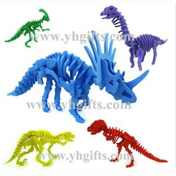 5PCS/LOT,Foam dinosaur puzzles,Foam animal puzzle,Kids toys,Early ducatonal toys,Birthday gift,Kids party favor,5 design. image