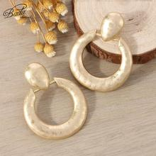 Badu 2019 New Big Round Hollow Earrings for Women Fashion Metal Vintage Punk Rock Party Gifts Jewelry Wholesale