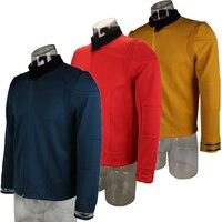 Star Uniform Trek Discovery Season 2 Starfleet Captain Kirk Shirt With Badge Costumes Men Adult Halloween Cosplay Costume