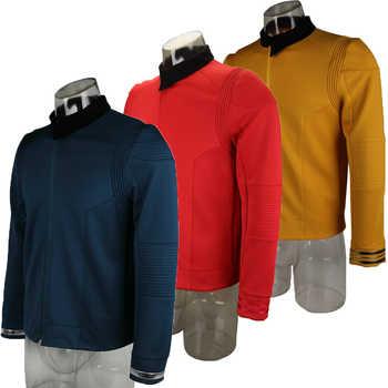 Star Uniform  rek Discovery Season 2 Starfleet Captain Kirk Shirt With Badge Costumes Men Adult Halloween Cosplay Costume - DISCOUNT ITEM  35% OFF All Category