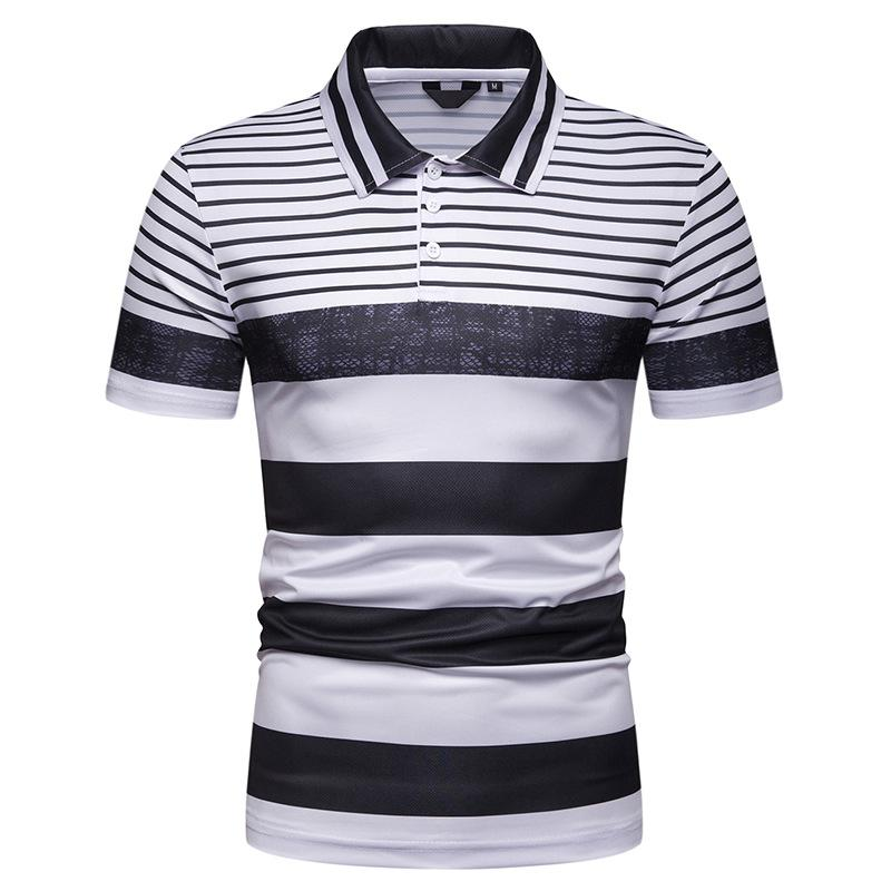 Stripe Men   Polo   Shirt Short sleeve Beach Hawaiian Casual New   Polo   Shirt for Men Summer Tops Men's Clothing New