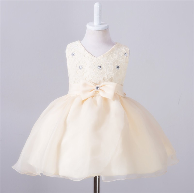 Baby Christening Bow Dress (6)