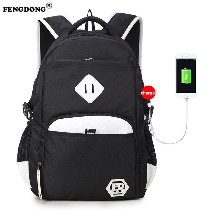 FENGDONG 2017 High Waterproof Oxford Backpacks Female Unisex Men's Backpacks School Bags for Laptop Women Notebook Bag Backpack  fengdong men backpack oxford youth fashion brand usb charge designer back pack college bags school bag waterproof backpacks male