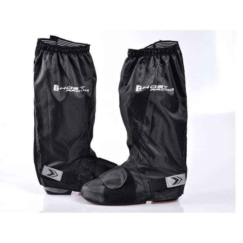 GEIST RACING Schwarz Motorrad Wasserdichte Regen Stiefel Schuh Überschuhe Anti-slip Stiefel Getriebe Schuhe Mehrweg Weich