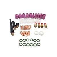 49Pc TIG Gas Lens Removable Durable Metal TIG Lens Kit for WP18 Welding Pistol WP17