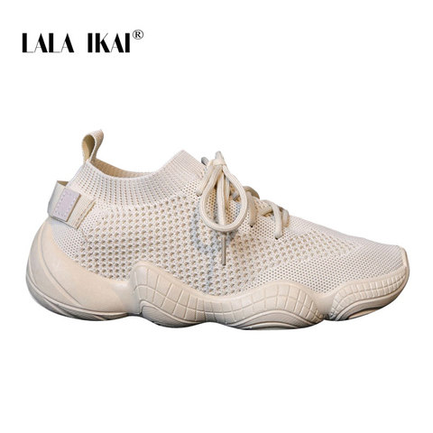 LALA IKAI Sneakers Women Spring Breathable Mesh Shoes Casual Lace Up Vulcanize Shoes Female Soft Pink Tenis Shoes 014A3796-4 Multan