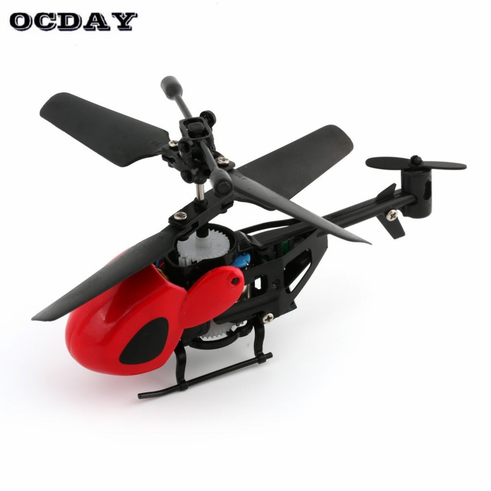 Flying Mini RC Helicopter Kid's RC Toy Mini RC Plane Radio Remote Control Aircraft Micro 2 Channel RC 5012 Red fz