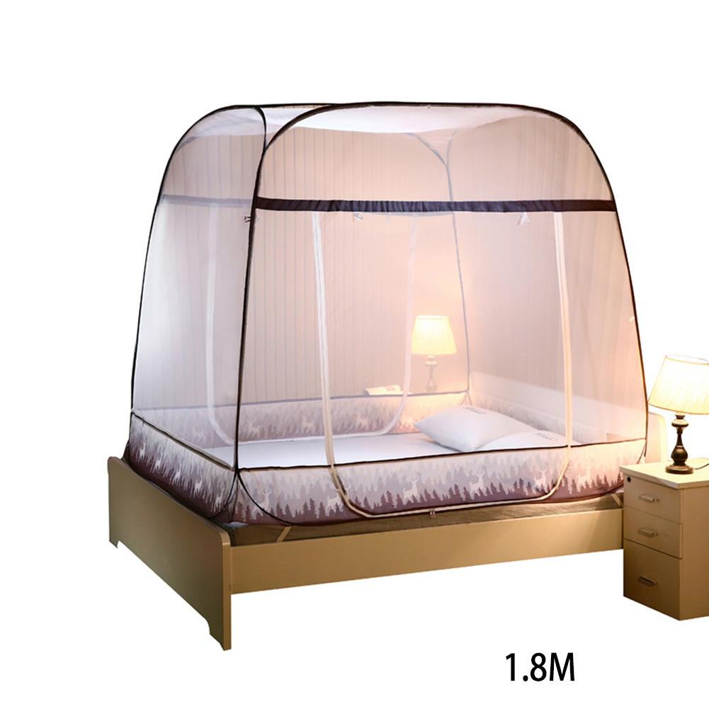 Moustiquaire Pop-Up tente pliante mongolie sac moustiquaire maille pour lits Anti moustique piqûres Design pliant avec fond Net pour bébé