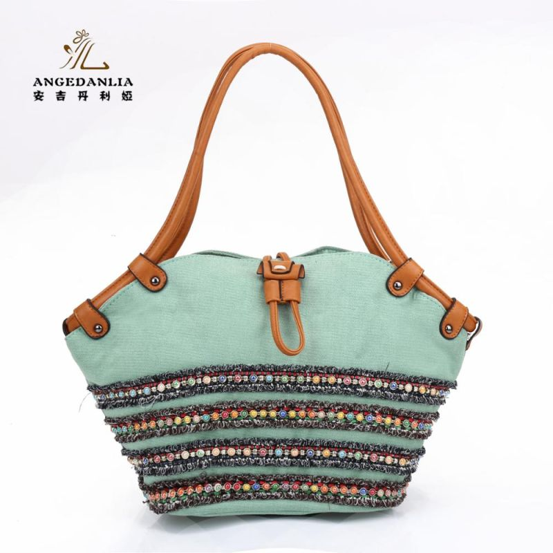 women Bohemian Cotton Canvas Fabric Handbag shoulder bag Cotton Fabric national ethnic bags large capacity bags beibehang custom photo floor painted
