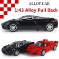 1:43 сплава модели автомобилей, высокая моделирования суперкар автомобиль игрушки со звуком и светом вернуться к власти, бесплатная доставка