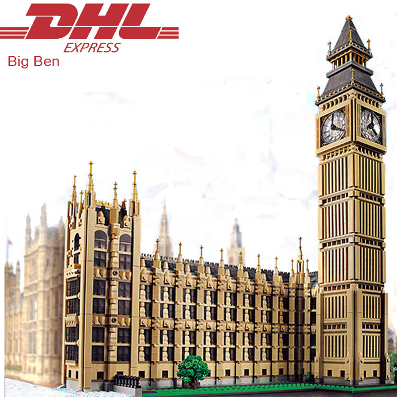 2017 New 4164Pcs City Street Figures Big Ben Model Building Kits Blocks Bricks Toy For Children Christmas Gift Compatible 10253 10646 160pcs city figures fishing boat model building kits blocks diy bricks toys for children gift compatible 60147