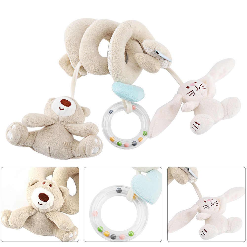 Juguete suave de la cuna del bebé del juguete del cochecito de bebé espiral para los recién nacidos asiento de coche sonajero educativo Toalla de bebé juguetes educativos 0 12 meses