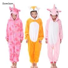9032540d33b6fa Kigurumi piżama dla dzieci dziewczyny jednorożec Anime Panda Onesie kostium  dla dzieci chłopcy bielizna nocna kombinezon
