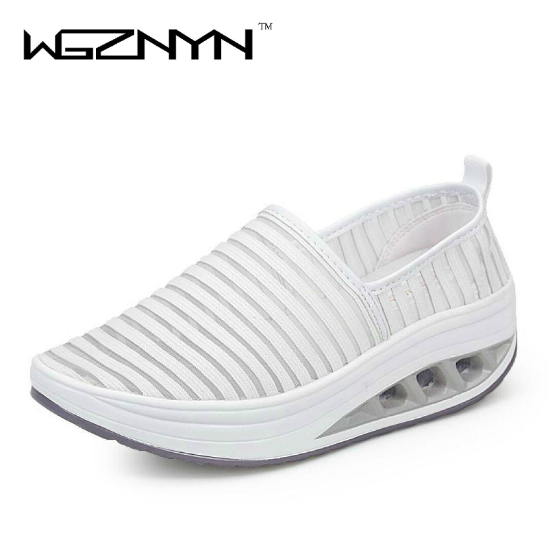 WGZNYN 2017 Summer New Arrival Women Shoes Fashion Woman Flats Lady Platform Shoes Zapatos Mujer Free Shipping 2016 spring and summer free shipping red new fashion design shoes african women print rt 3
