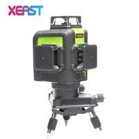 XEAST XE 903 12 Line Laser Level 360 Self Leveling Cross Line 3D Laser Level Green