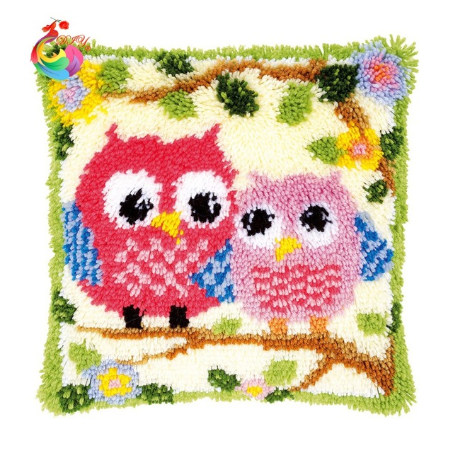 Diy Needlework Crafts Diy Pillowcase Embroidery Cushion Cover Home