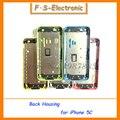 5 cor Nova Marca Chassis Médio Quadro Habitação Voltar Bateria capa oriente metal frame voltar habitação para iphone 5c livre grátis
