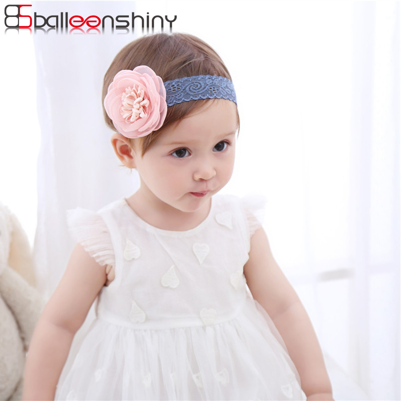 BalleenShiny Baby Girls Cute Flower Headband New Hot Sale Fashion Lace Hair Band Children Photography Tools Kids Hair Accessory