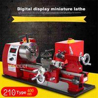 Новая цифровая мини токарный 400 Тип 210 мм бытовой бусинами токарный станок высокой мощности обработки бусинами токарный станок 110 В/220 В 600 Вт