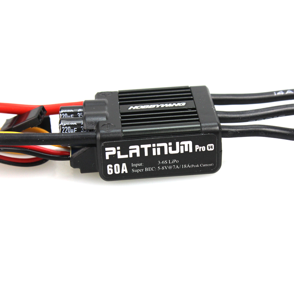 HobbyWing Platinum Pro 50A V3 / 60A V4 Brushless ESC Electronic Speed controller for RC Drone Heli  FPV Multi-Rotor F17552/3  free shipping 2pcs lot hobbywing platinum 30a pro 2 6s electric speed controller esc opto specially for multi rotor
