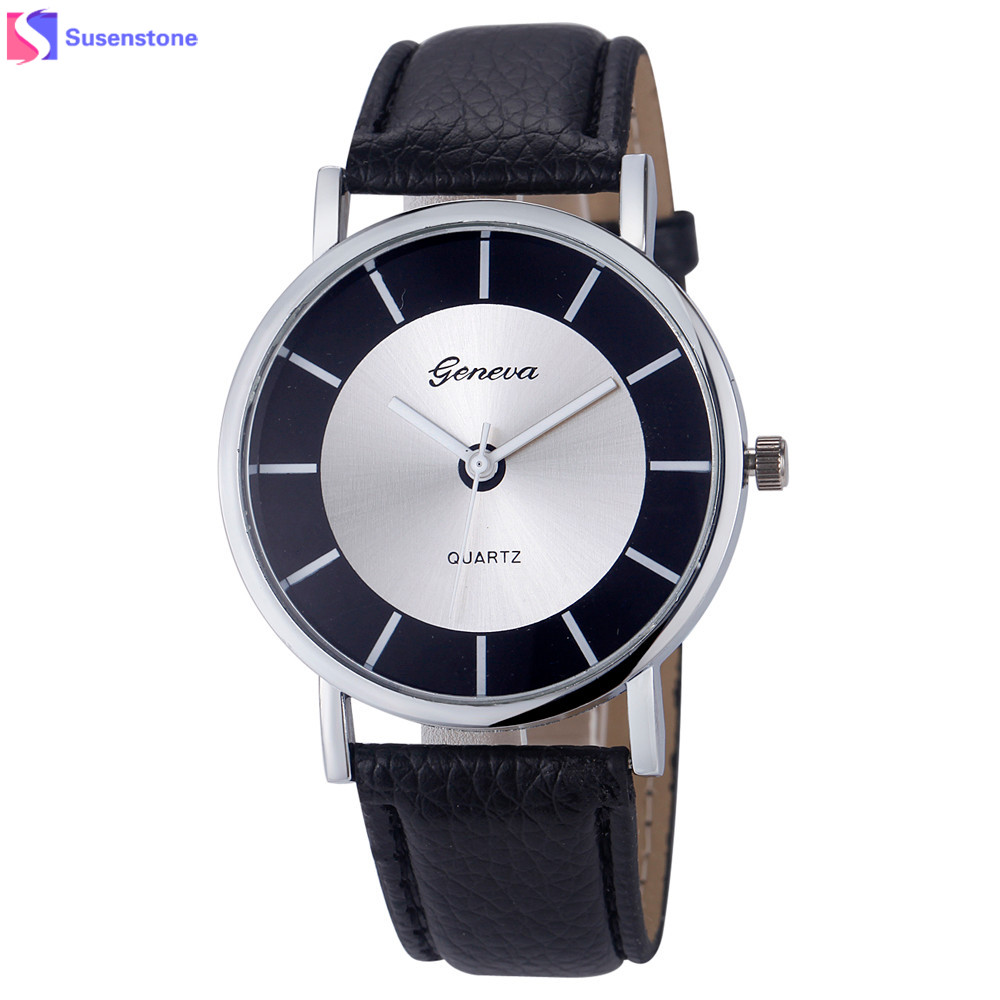 Women Quartz Wrist Watch Fashion & Casual Polishing Dial Leather Band Analog Ladies Watches montre femme reloj mujer Hour Clock ladies fashion brand quartz watch women rhinestone pu leather casual dress wrist watches crystal relojes mujer 2016 montre femme