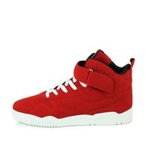 3f72600b3 جديد الربيع حذاء رجالي المدربين أزياء والجلود عارضة عالية أعلى الرياضة المشي  حذاء كاحل برباط الأحذية للرجال الأحمر Zapatillas Ho.