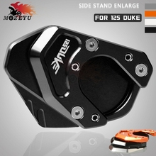 CNC Motorcycle Accessories Side Stand Enlarge Kickstand Extension Plate Pad For KTM DUKE 125 DUKE125 2012-2018 2013 2014 2015 цена